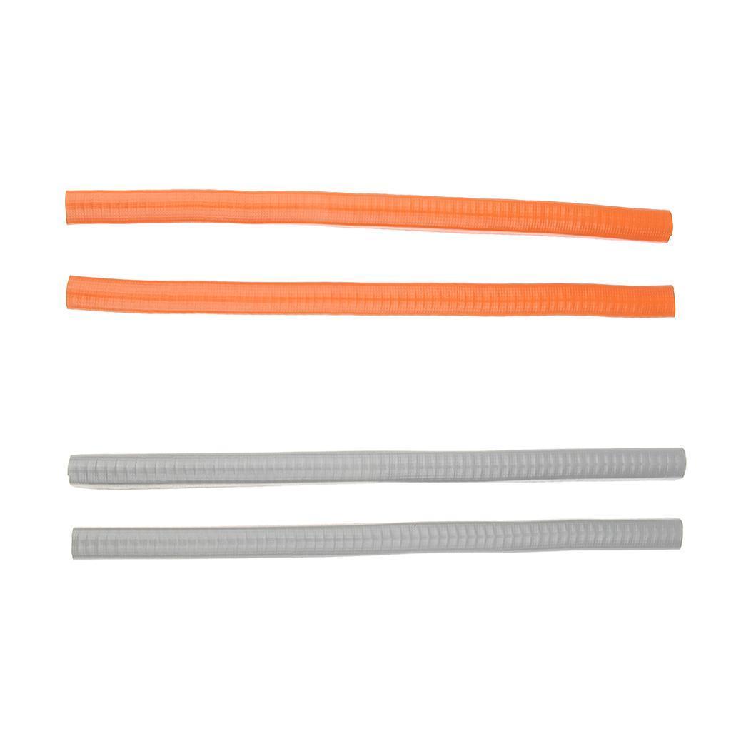 2-Pezzi-Gomma-Longboard-Skateboard-Deck-Protection-Strip-Nose-Cinturino-Di miniatura 5