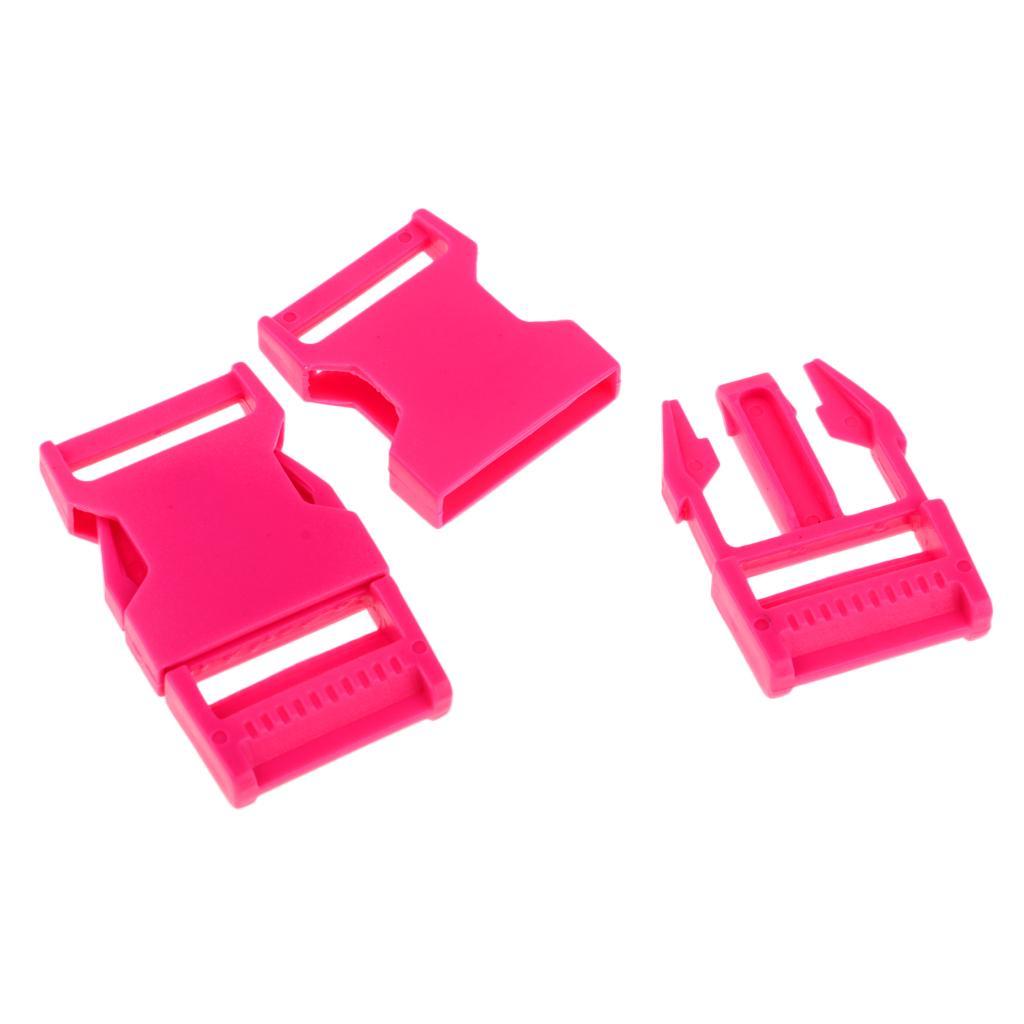 10pcs Slimwaist Backpack Straps Webbing Plastic Side Release Buckles Clips Clasp
