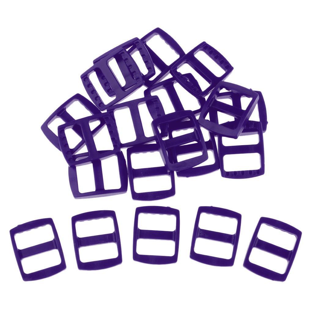 20-Pezzi-di-Fibbia-a-Tessitura-Webbing-Buckle-Accessori-di-Campeggio miniatura 14