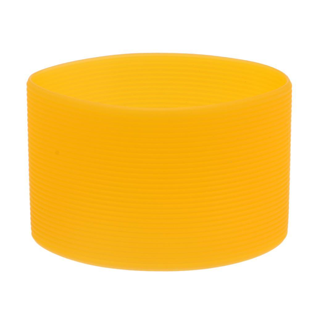 MagiDeal-Outdoors-Silicone-Round-Non-slip-Water-Bottle-Mug-Cup-Sleeve-Cover thumbnail 21