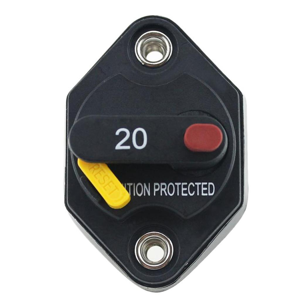 125//250VAC 15A Switch Push Reset Button Circuit Breaker Overload Protector IJ