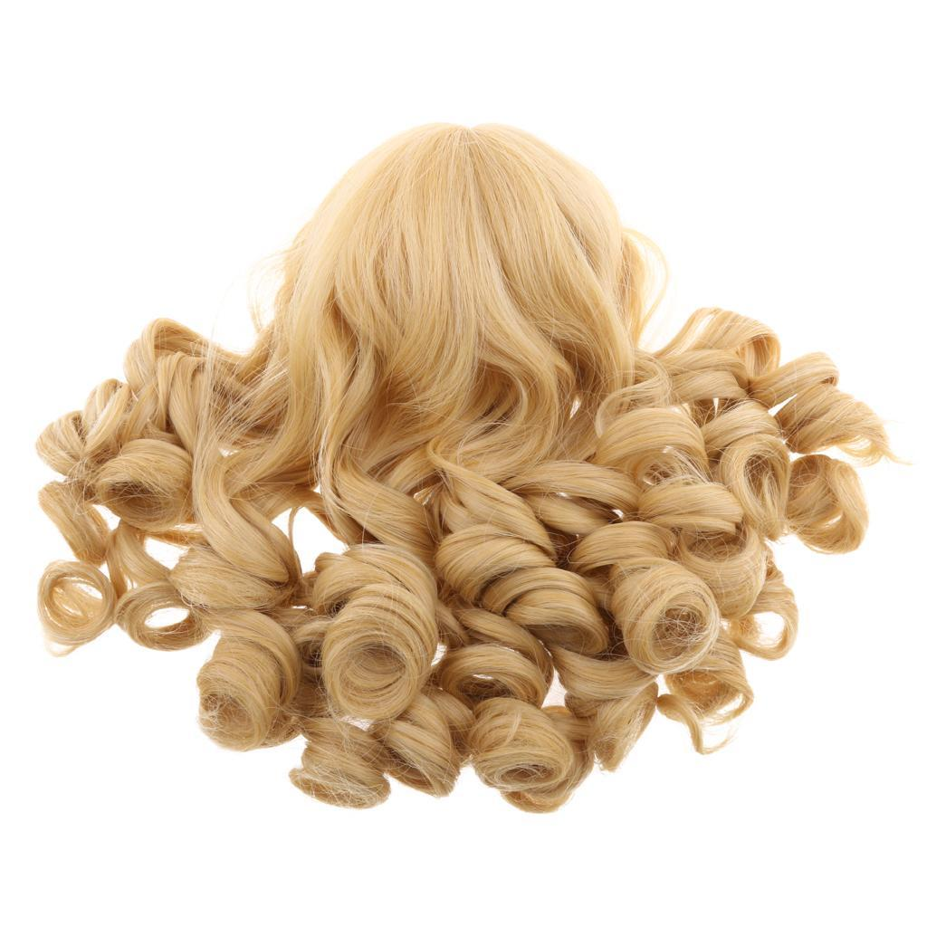 MagiDeal-Wavy-Curly-Hair-Wig-for-18inch-American-Doll-Doll-DIY-Making-Accessory thumbnail 10