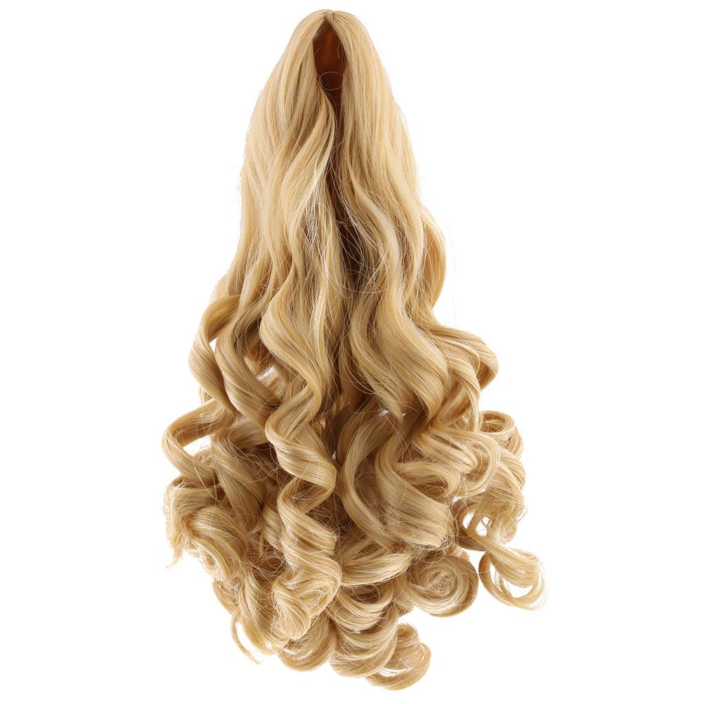MagiDeal-Wavy-Curly-Hair-Wig-for-18inch-American-Doll-Doll-DIY-Making-Accessory thumbnail 11