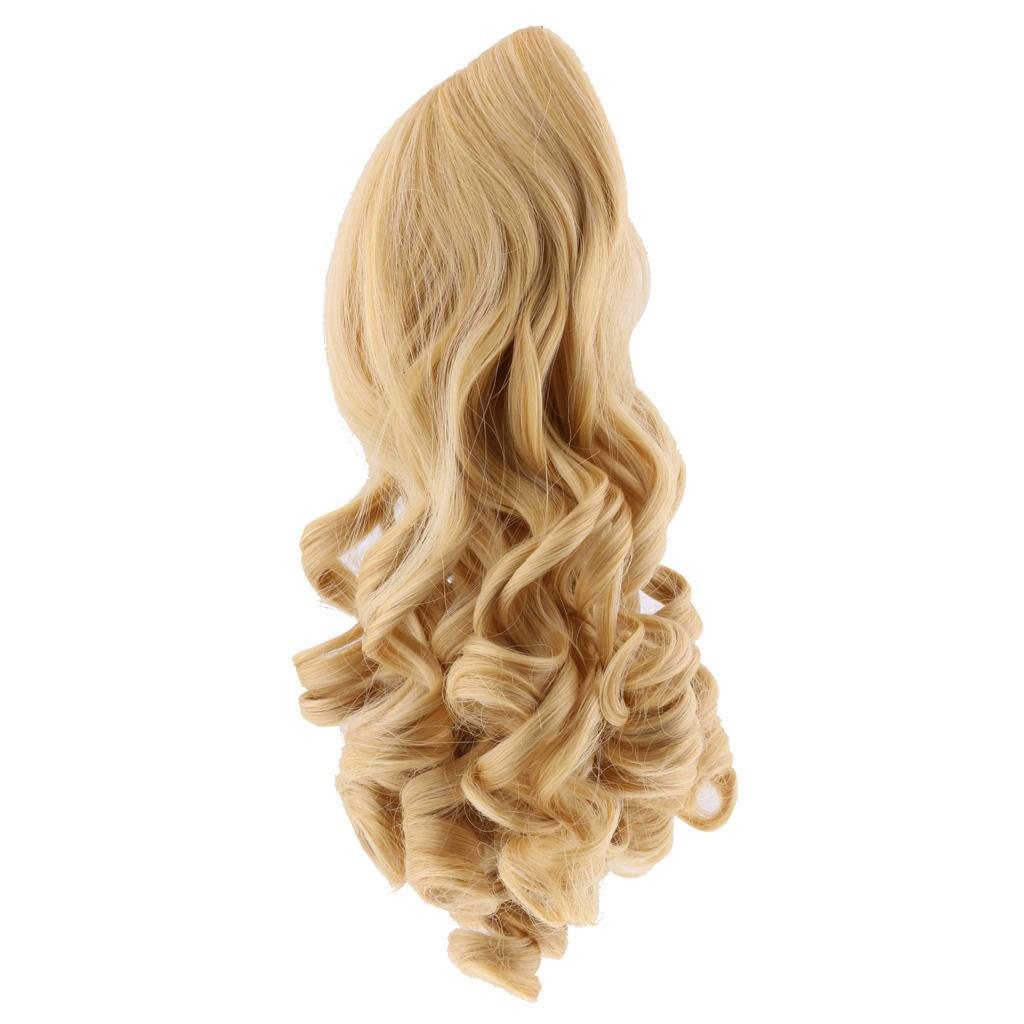 MagiDeal-Wavy-Curly-Hair-Wig-for-18inch-American-Doll-Doll-DIY-Making-Accessory thumbnail 12