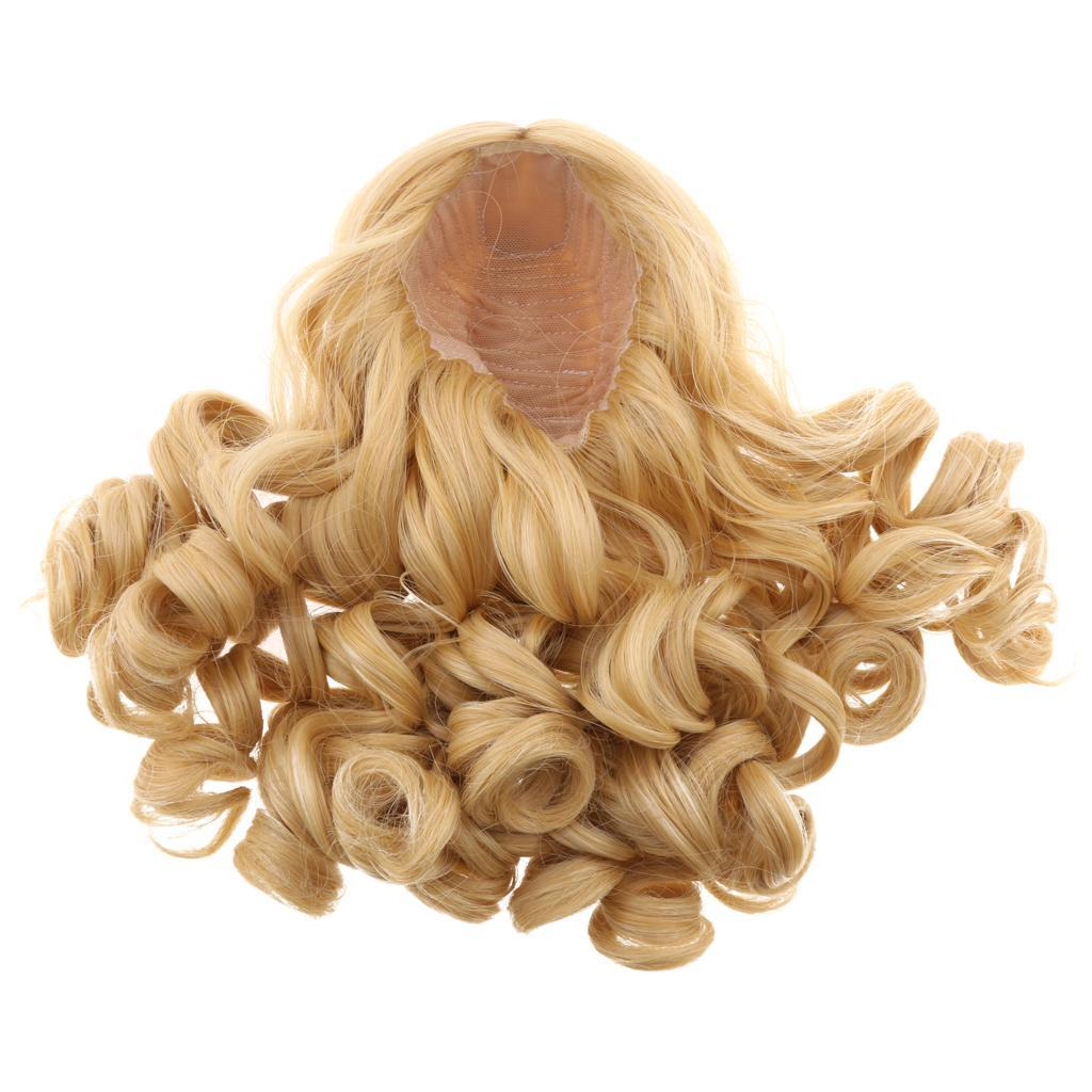 MagiDeal-Wavy-Curly-Hair-Wig-for-18inch-American-Doll-Doll-DIY-Making-Accessory thumbnail 13