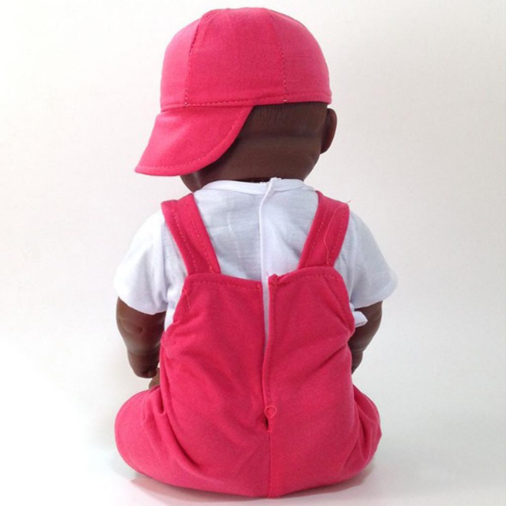 Realistic Baby Boy Black Dolls 50cm African Doll Vinyl Reborn Baby Toy For Children Birthday Gift