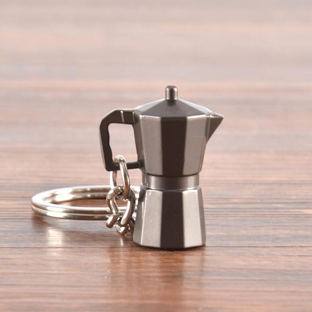 Coffee-Milk-Pitcher-Drip-Pot-Protafilter-Tamper-Keyring-Coffee-Keychain thumbnail 11