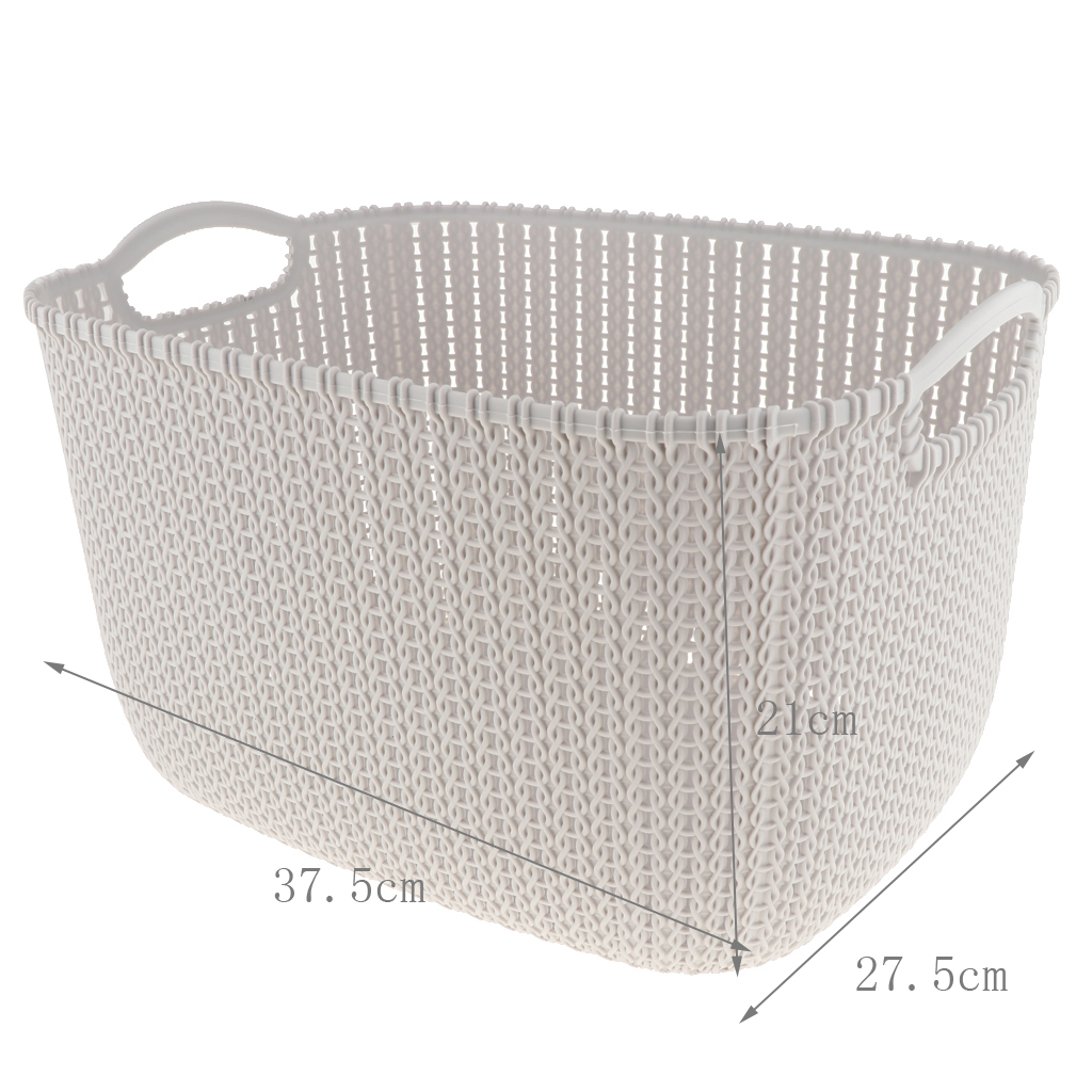 Plastic Laundry Basket Large Washing Clothes Hamper