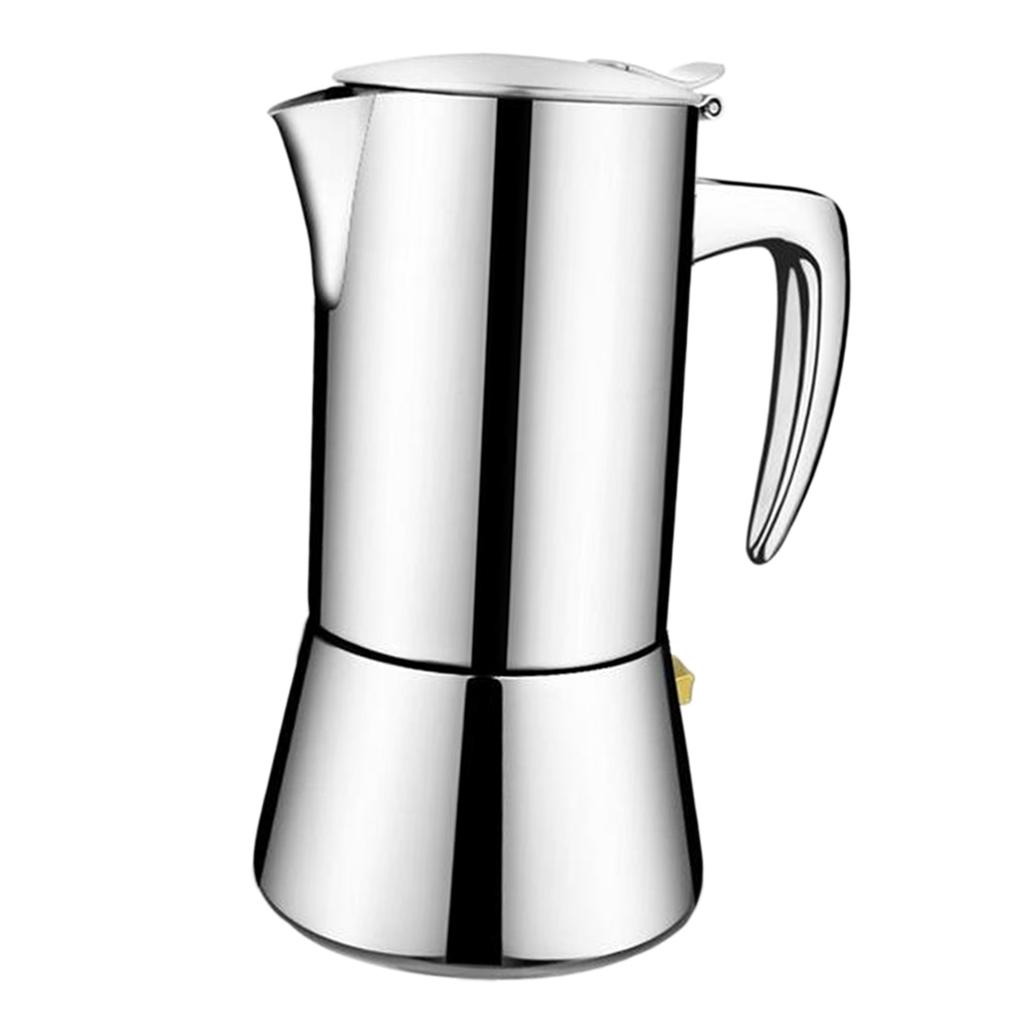 Stainless-Steel-Stovetop-Espresso-Coffee-Maker-Pot-Moka-Latte-200ml-300ml thumbnail 5