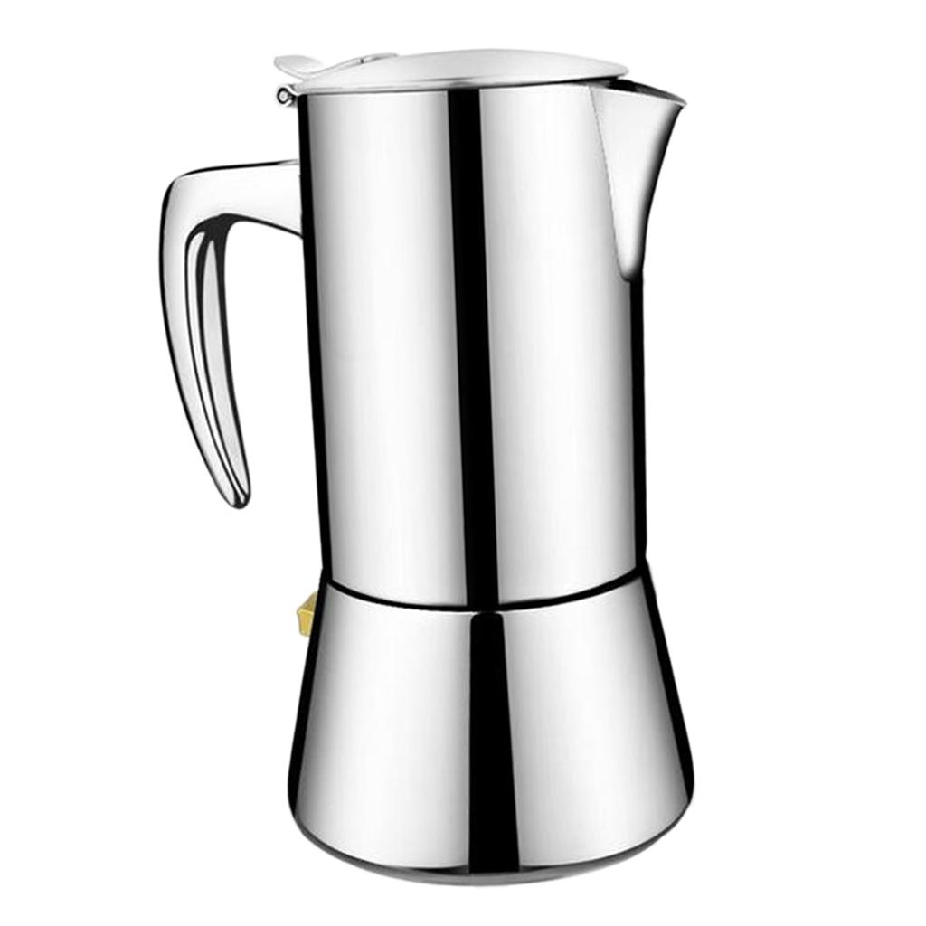 Stainless-Steel-Stovetop-Espresso-Coffee-Maker-Pot-Moka-Latte-200ml-300ml thumbnail 6