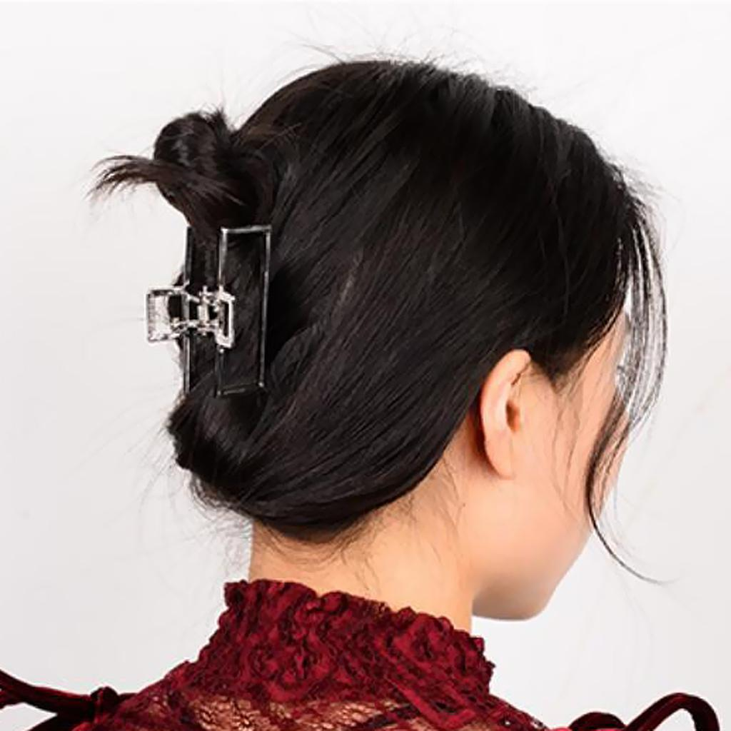 Vintage-Metal-Hair-Jaw-Clips-Rectangle-Arch-Hair-Clamp-Claws-Accessories-Women thumbnail 15