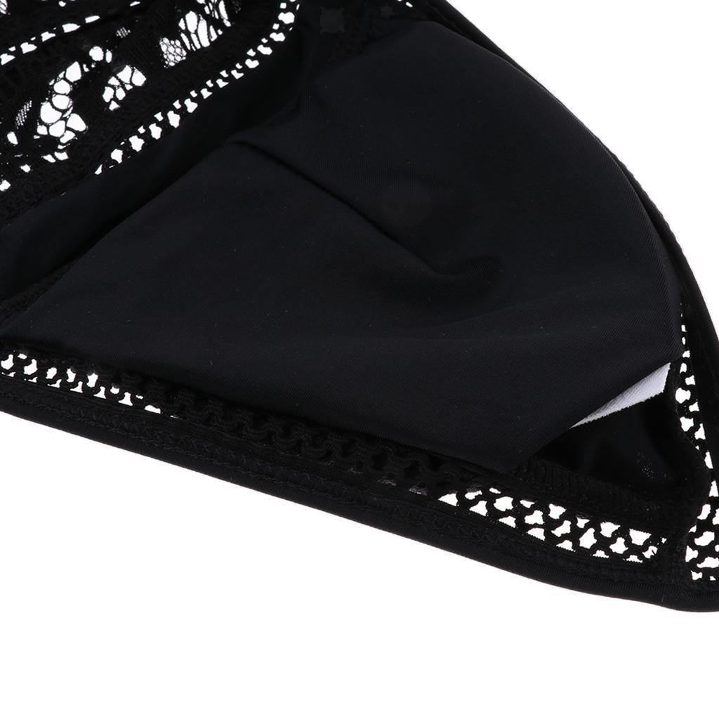Femme-Maillot-de-Bain-1-Piece-elegant-Amincissant-Bikini-Sexy-Transparent miniature 4