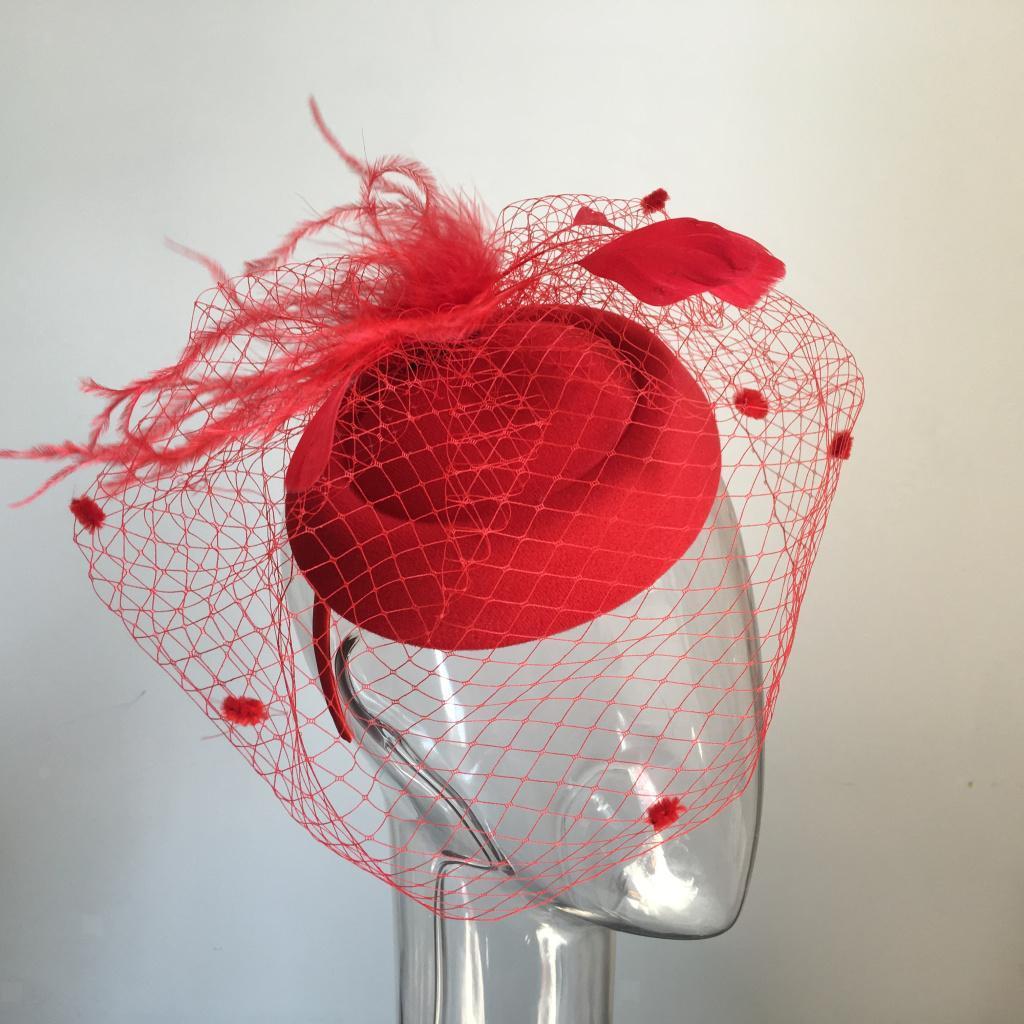 Women-039-s-Fascinator-Hat-Mesh-Veil-Feathers-Headband-Cocktail-Tea-Party-Hats thumbnail 15