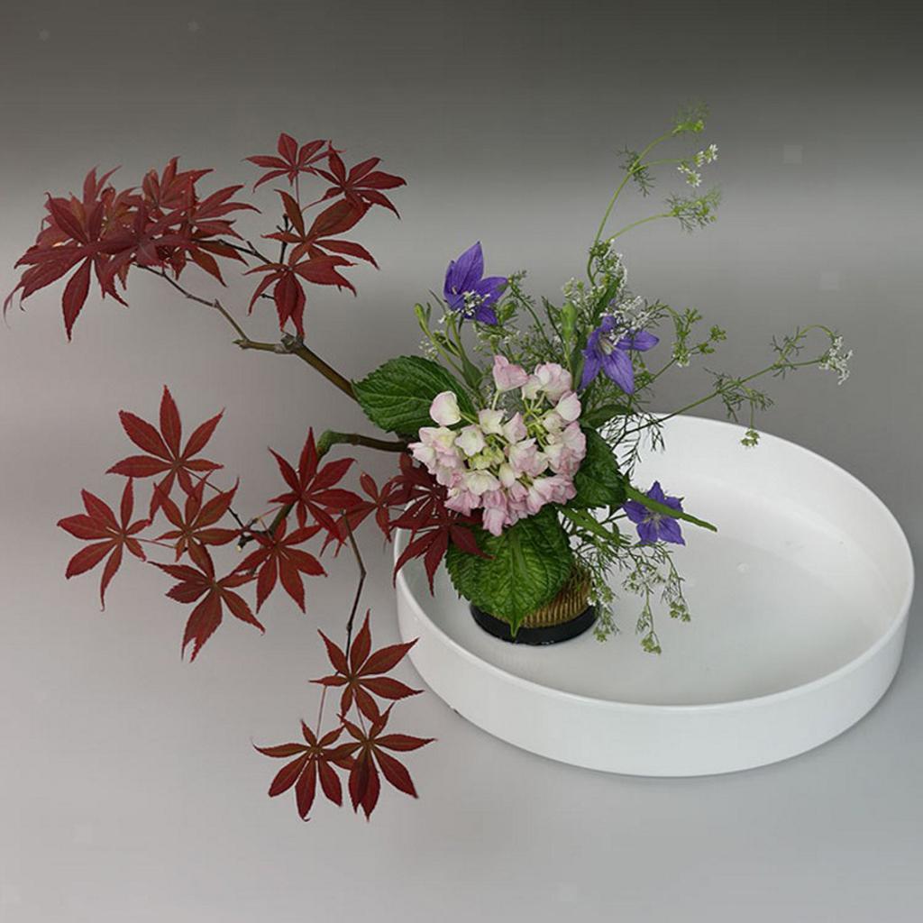 Blesiya-Round-Suiban-Vase-Pot-Tray-Container-for-Ikebana-Flower-Arrangements thumbnail 14