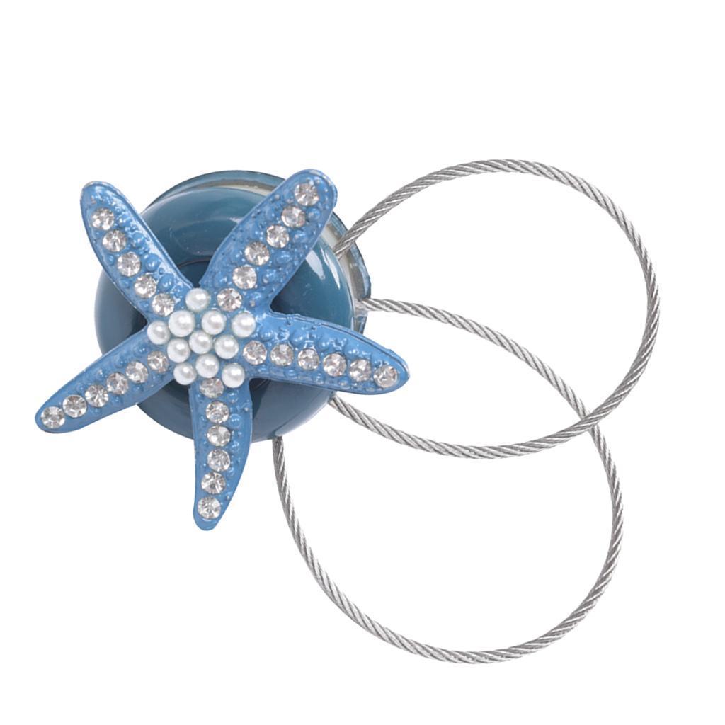 Novelty Starfish Curtain Tiebacks Voile Tie Backs Buckle Clips Holdback Home