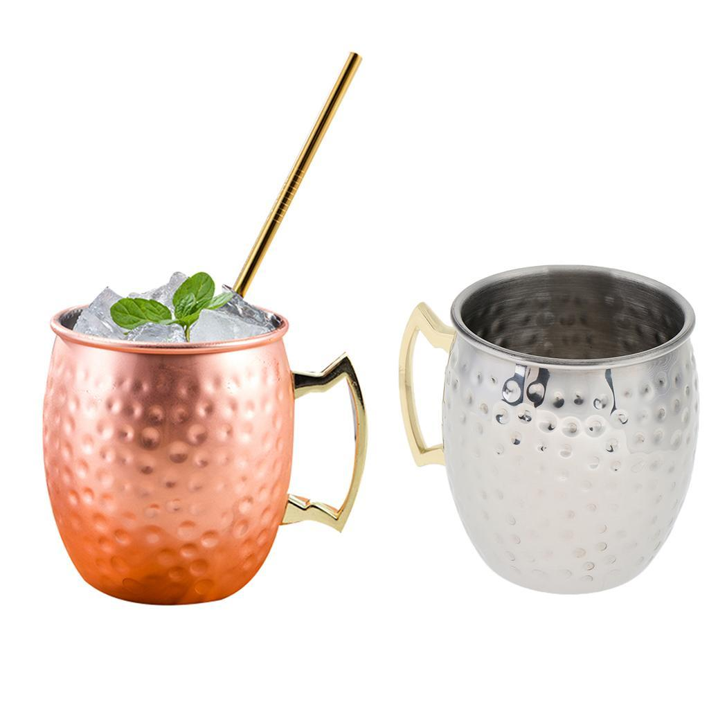 Stainless-Steel-Cup-Cocktail-Water-Beer-Coffee-Traval-Mug-Moscow-Mule-Mug thumbnail 4