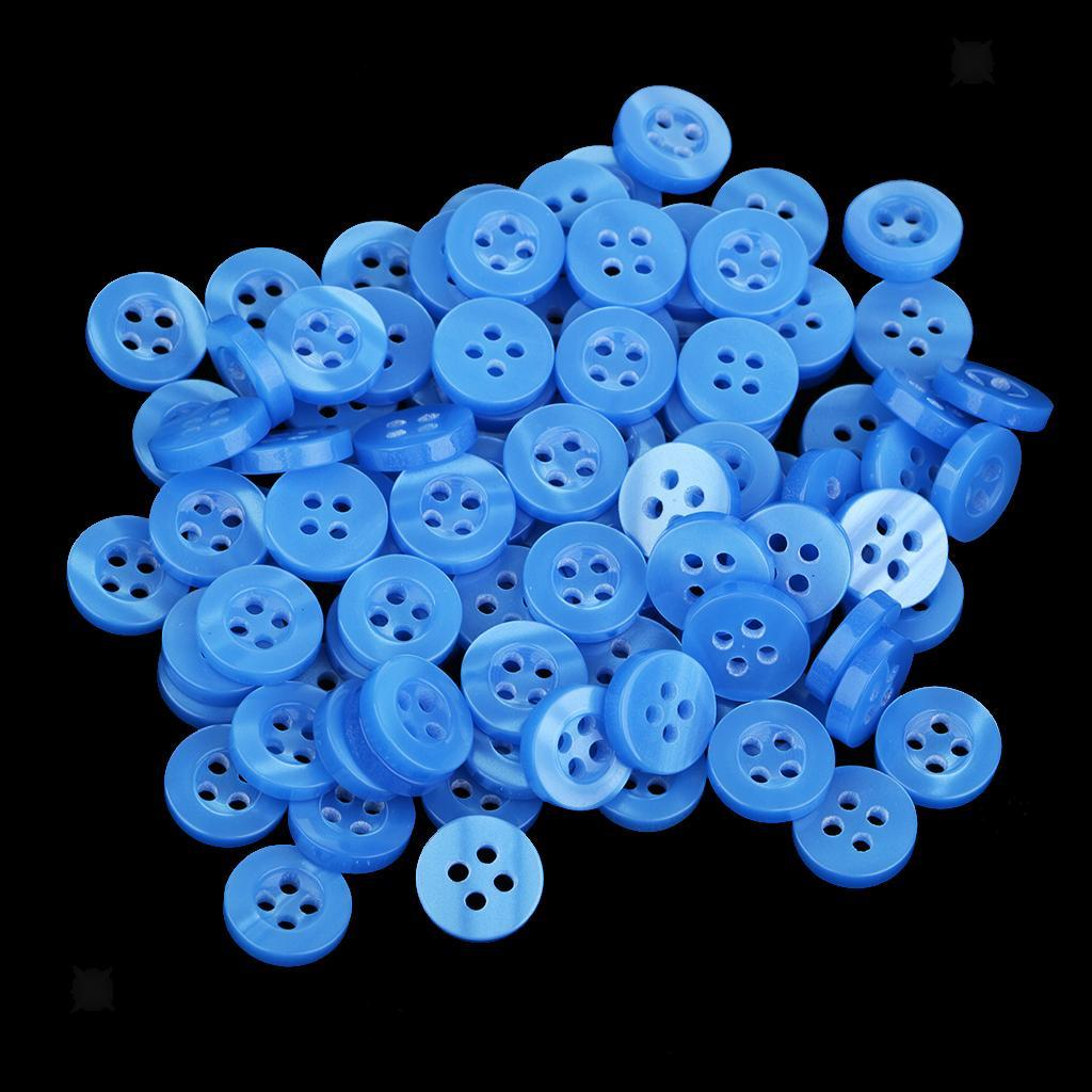 100pcs-4-Holes-Round-DIY-Resin-Buttons-Sewing-Scrapbooking-Clothes-Decor-11mm thumbnail 15
