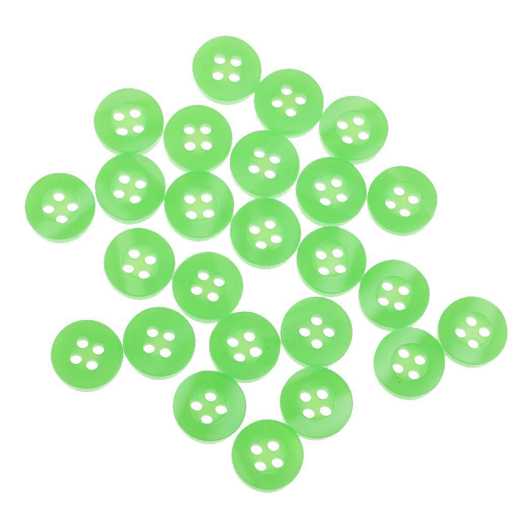 100pcs-4-Holes-Round-DIY-Resin-Buttons-Sewing-Scrapbooking-Clothes-Decor-11mm thumbnail 54