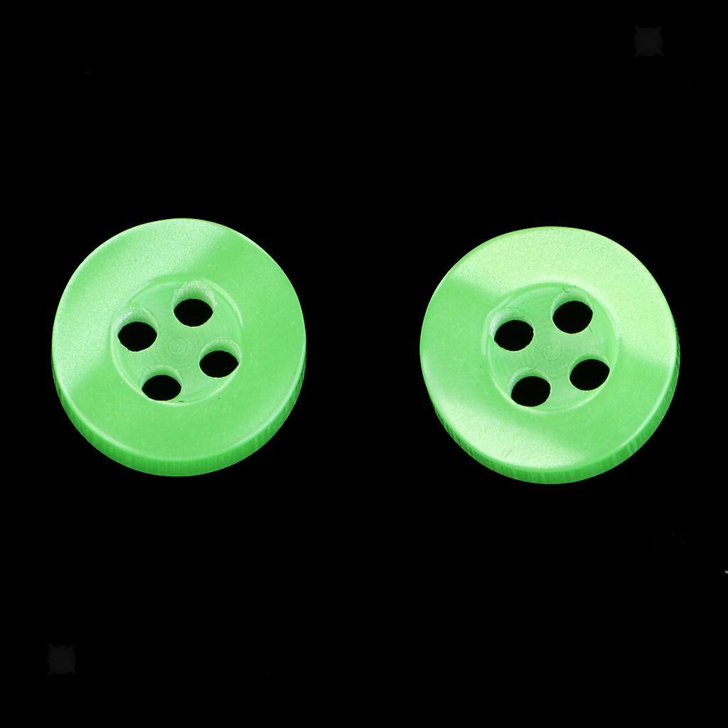100pcs-4-Holes-Round-DIY-Resin-Buttons-Sewing-Scrapbooking-Clothes-Decor-11mm thumbnail 51