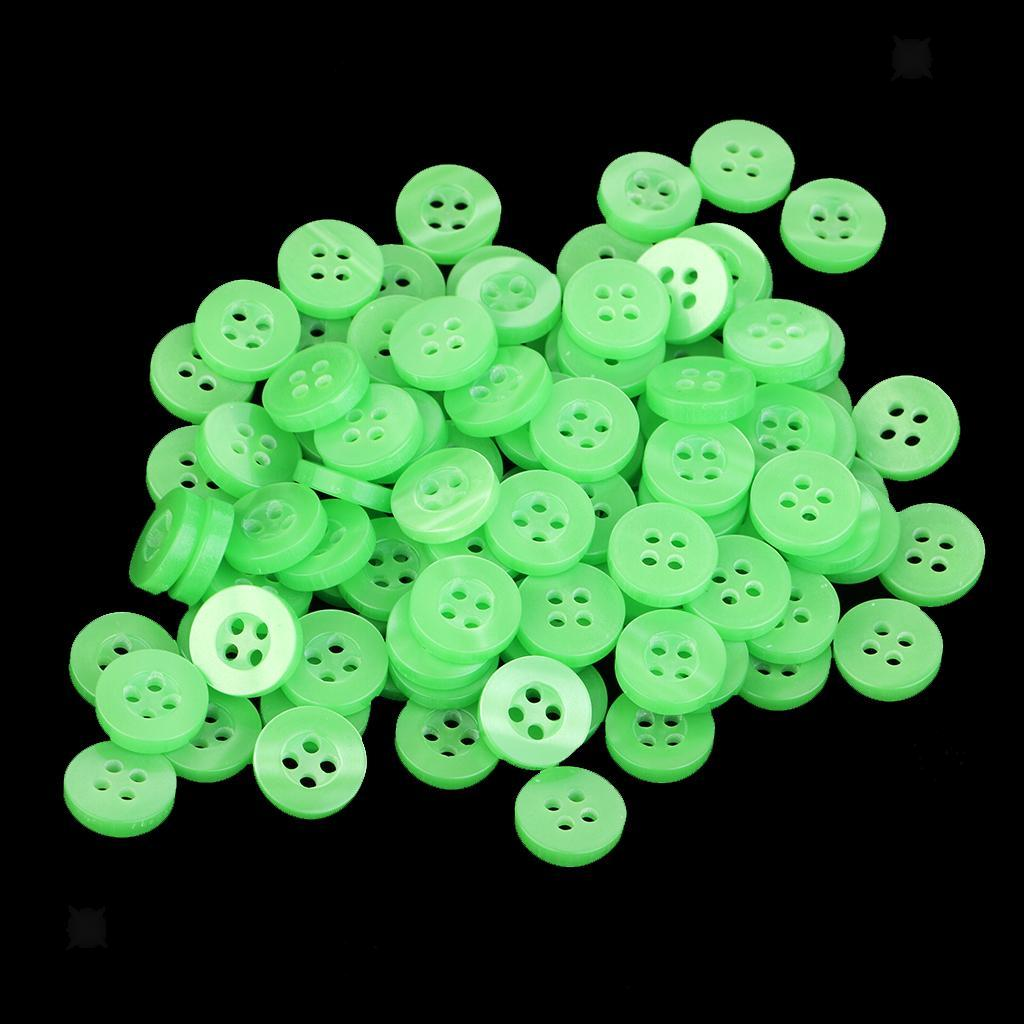 100pcs-4-Holes-Round-DIY-Resin-Buttons-Sewing-Scrapbooking-Clothes-Decor-11mm thumbnail 52