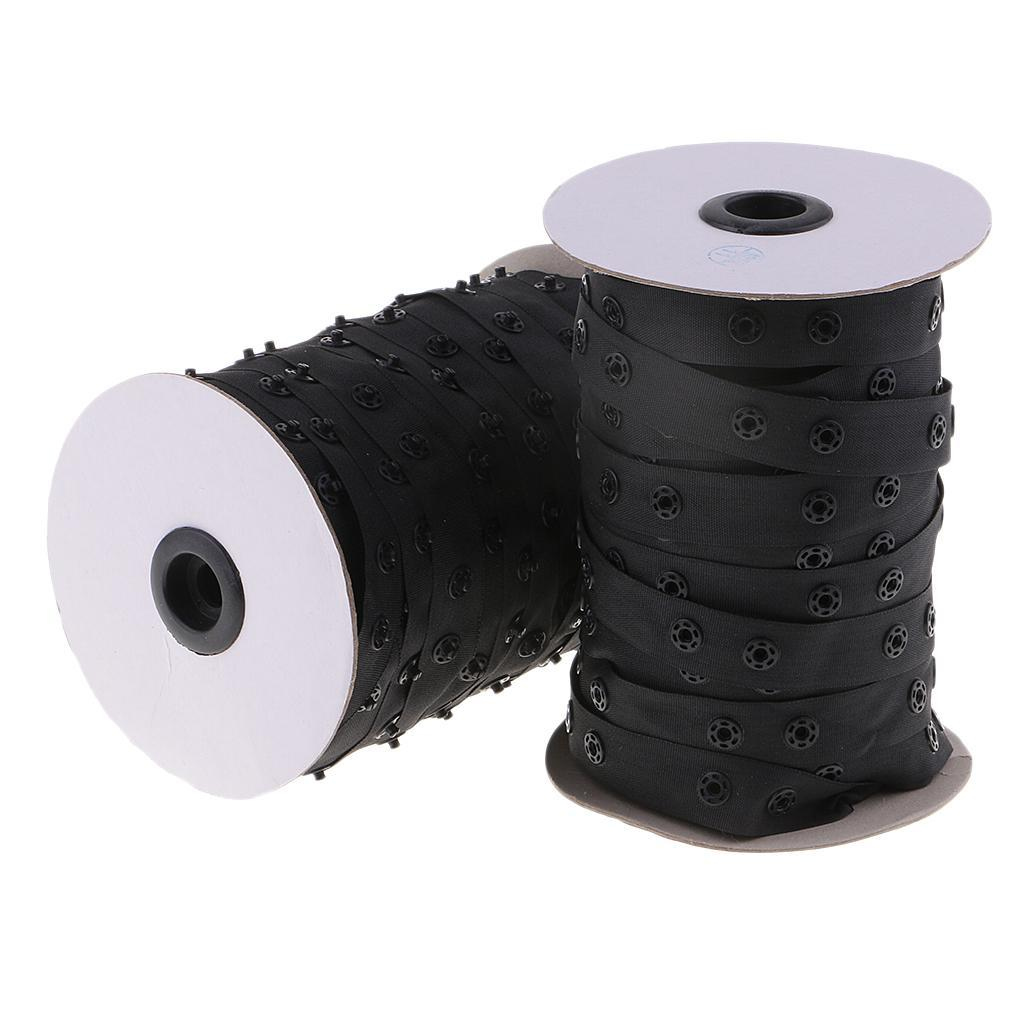 50-Yards-18mm-Round-Snap-Buttons-Tape-Trim-Fasteners-DIY-Sewing-Craft-Supply thumbnail 4