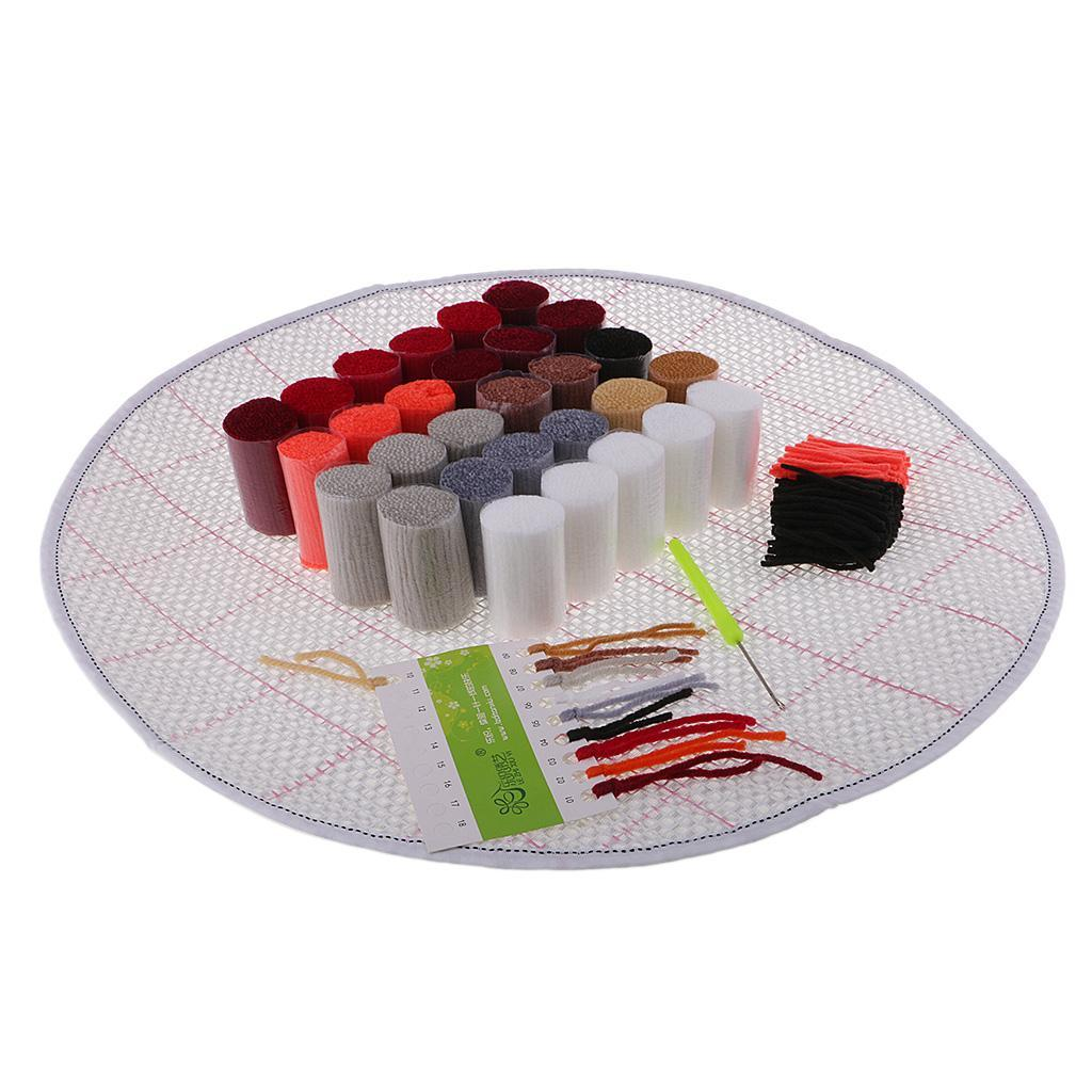 thumbnail 45 - Latch Hook Rug Making Kits for Kids/Adults Hand Embroidery Cushion Needlecrafts