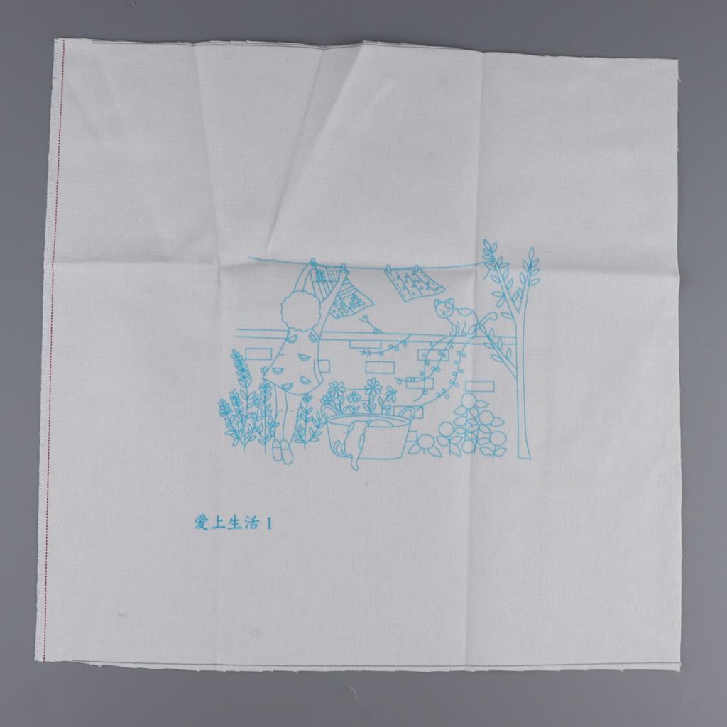 3D Fashion Patterns Painting Embroidery Cross Stitch Kits DIY Needlework Kit