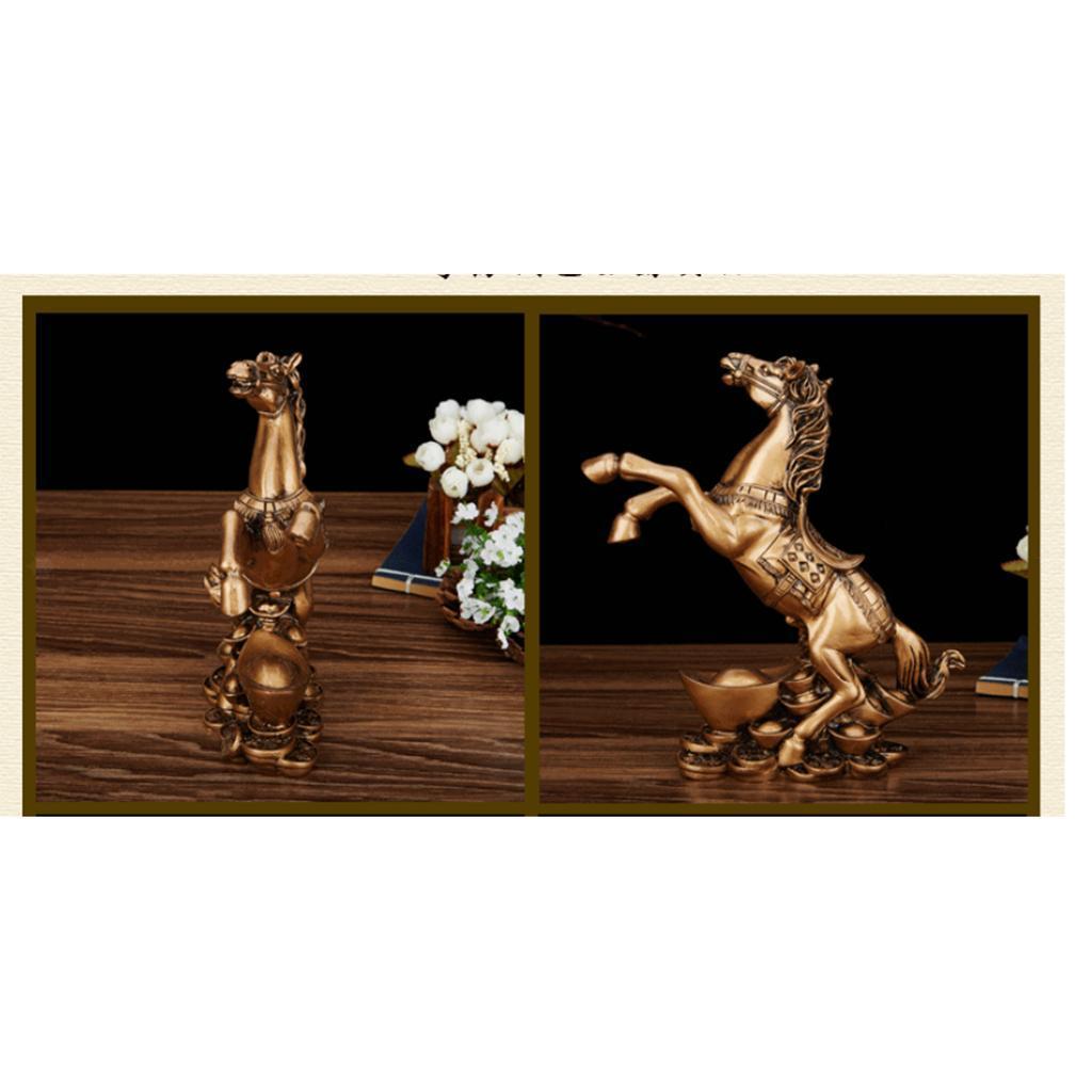 Cheval-en-Resine-Simulation-Statue-Decoration-d-Ameublement-Creative miniature 5