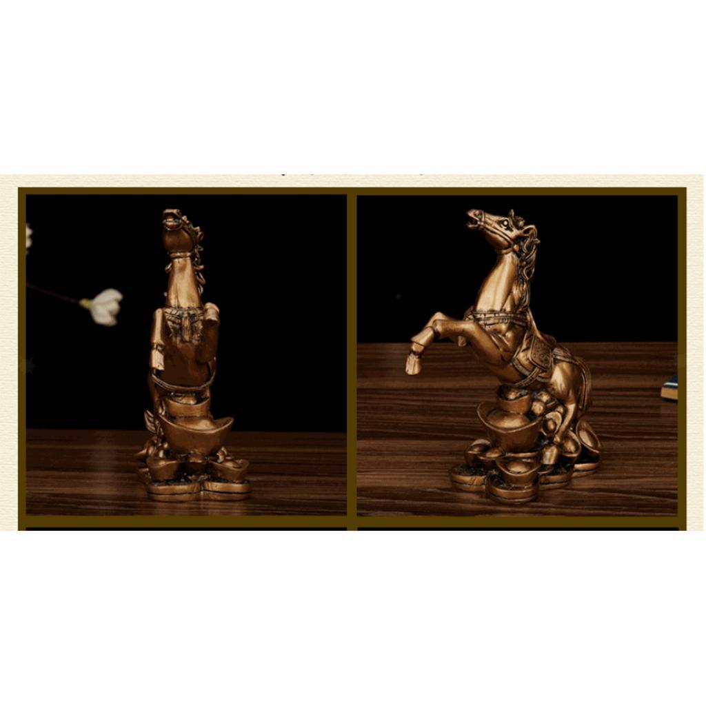 Cheval-en-Resine-Simulation-Statue-Decoration-d-Ameublement-Creative miniature 6