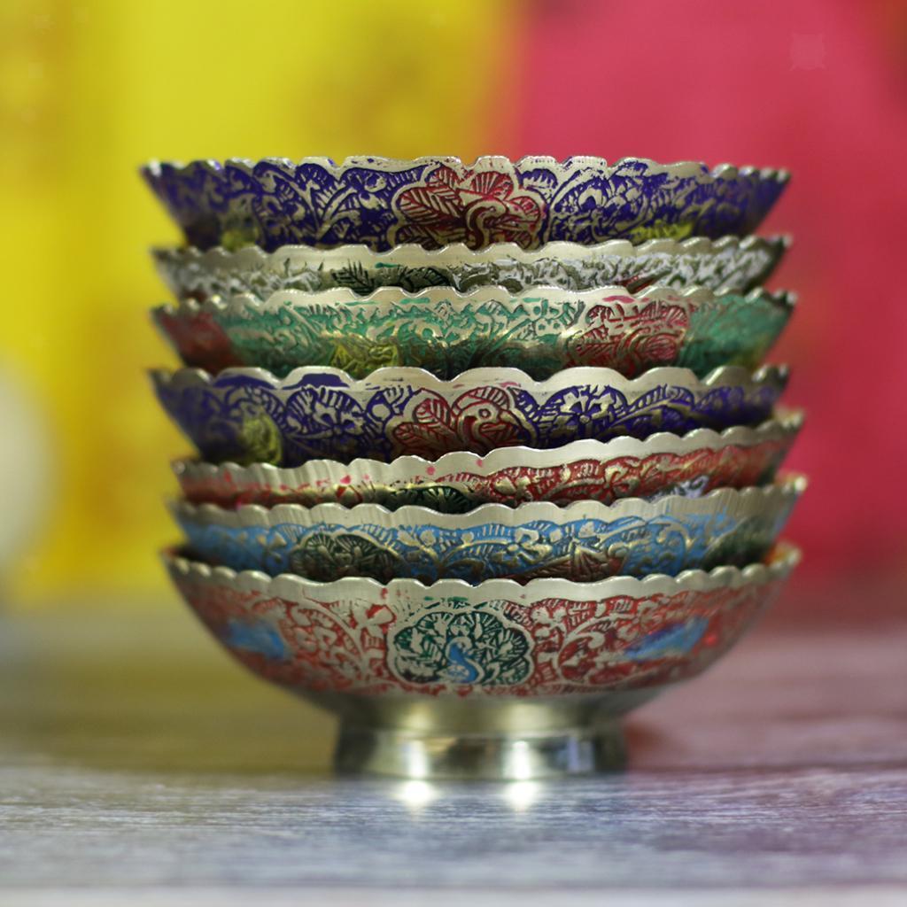 Piatta-Cibo-Casa-Servire-Tavola-Frutta-Buddismo-Decorazione-Collezioni miniatura 3