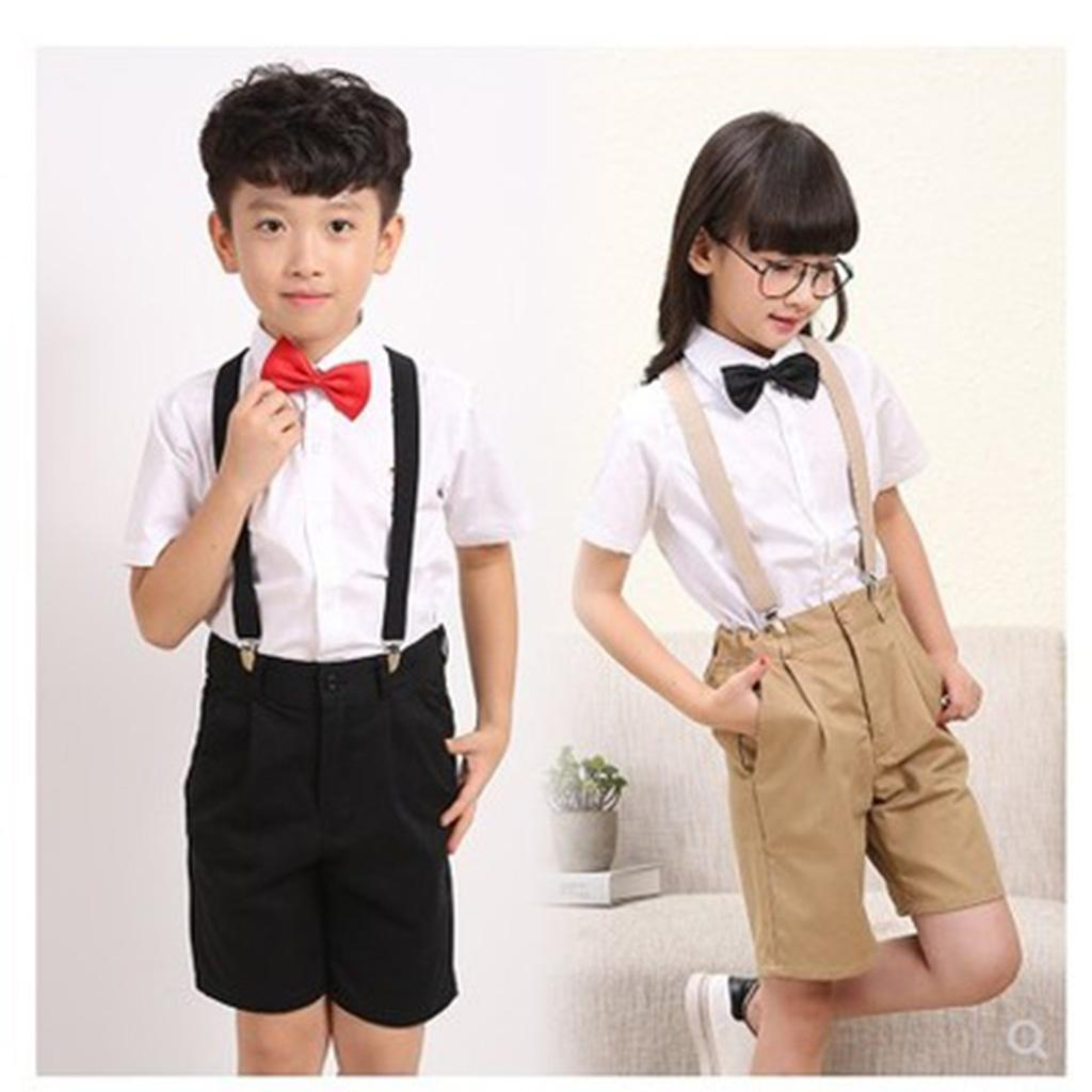 UNISEX BOYS GIRLS KIDS CLIP-ON SUSPENDERS ADJUSTABLE BRACES WEDDING BOY PAGEBOY
