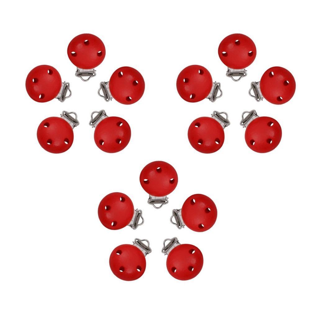 15pcs-rond-sucette-clip-perle-en-bois-bebe-dentition-accessoires-bricolage miniature 23