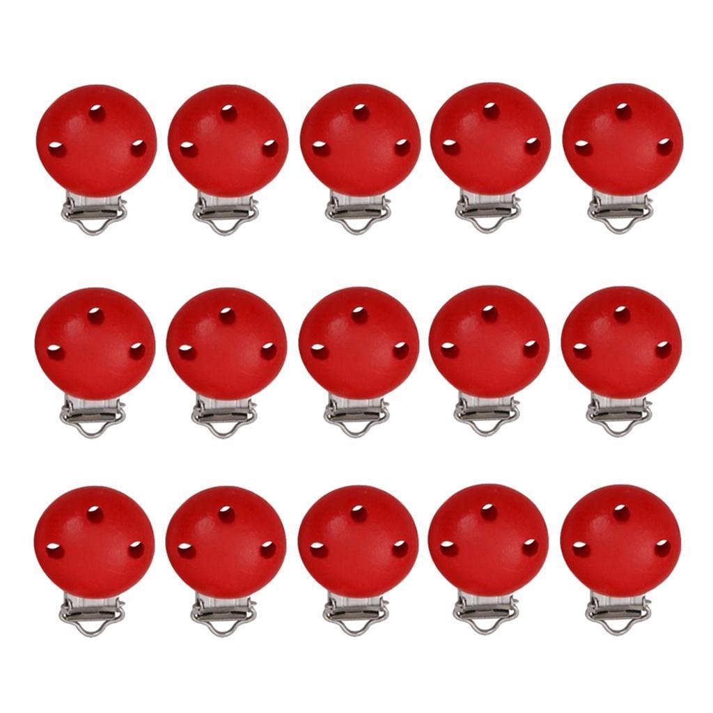 15pcs-rond-sucette-clip-perle-en-bois-bebe-dentition-accessoires-bricolage miniature 21