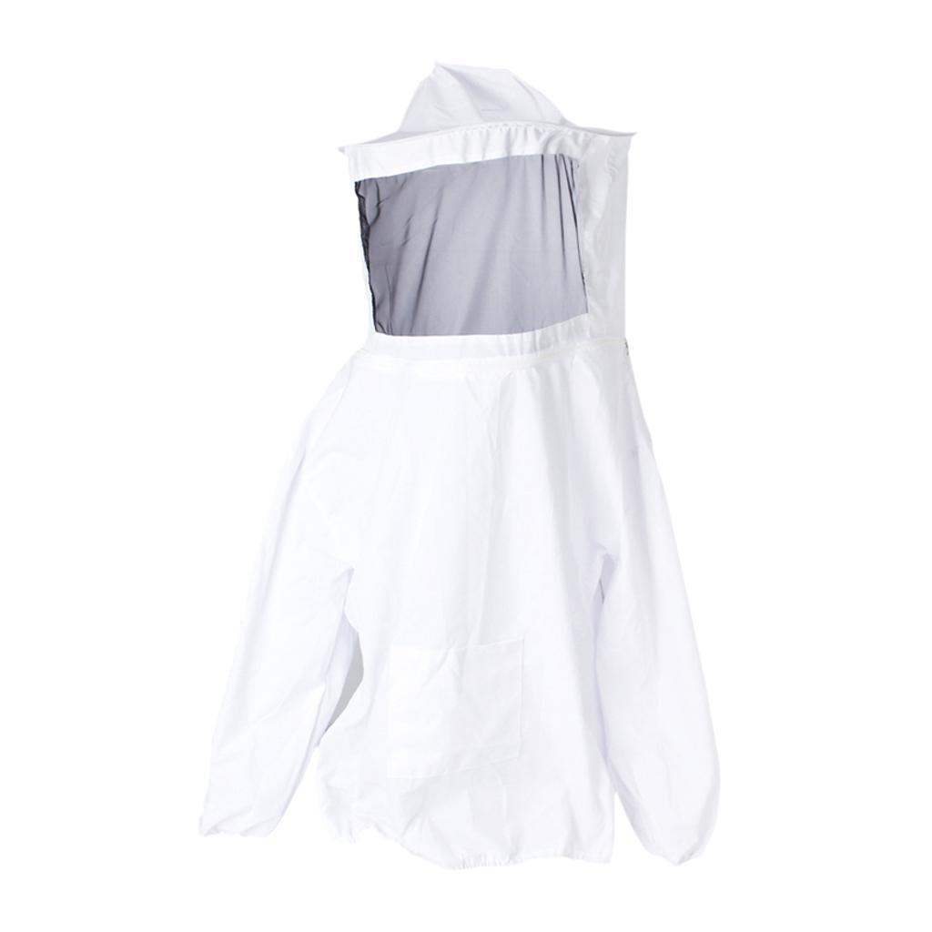 Giacca-Con-Cappello-e-Maschera-Rete-Protezione-Ape-Per-Apicoltura miniatura 2