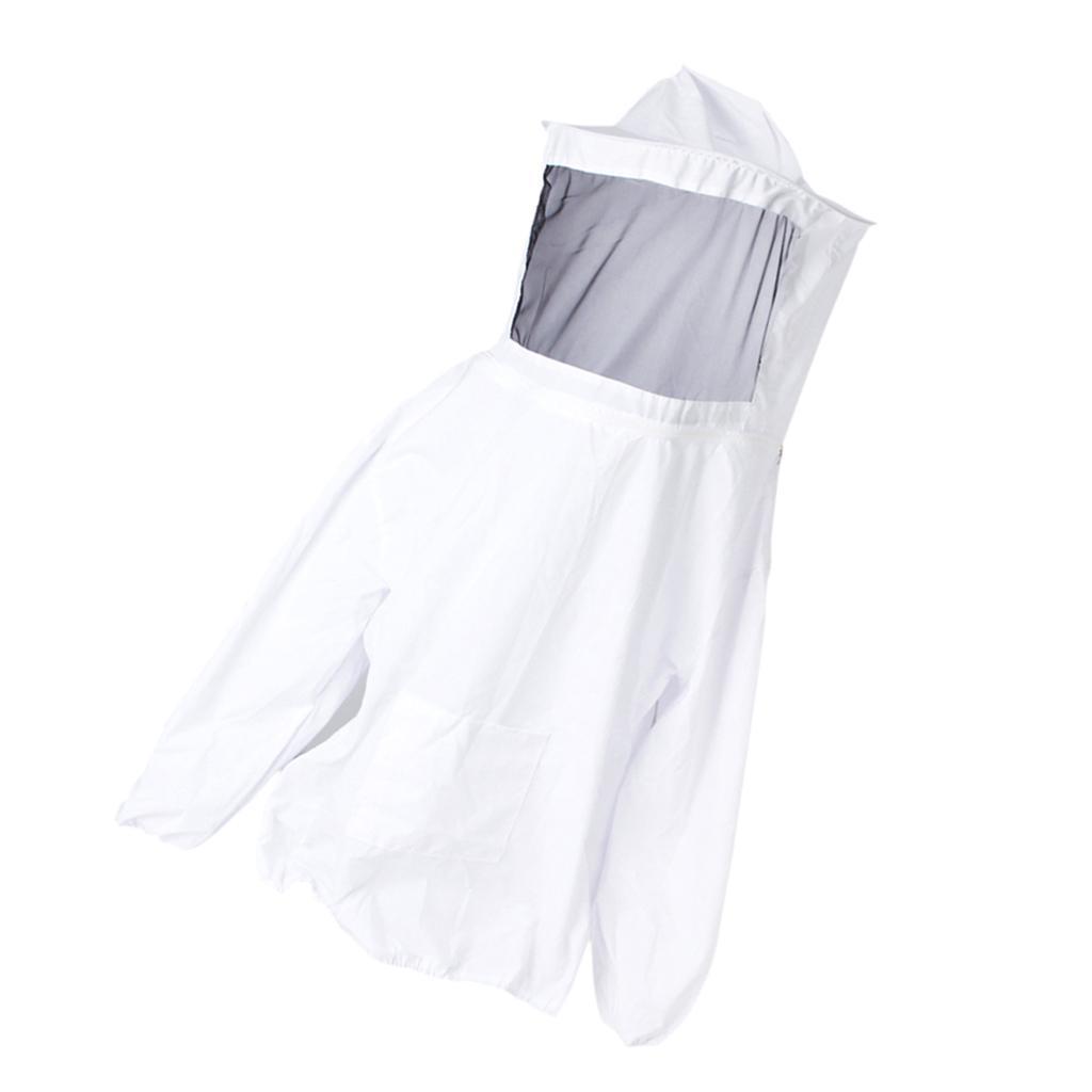 Giacca-Con-Cappello-e-Maschera-Rete-Protezione-Ape-Per-Apicoltura miniatura 4