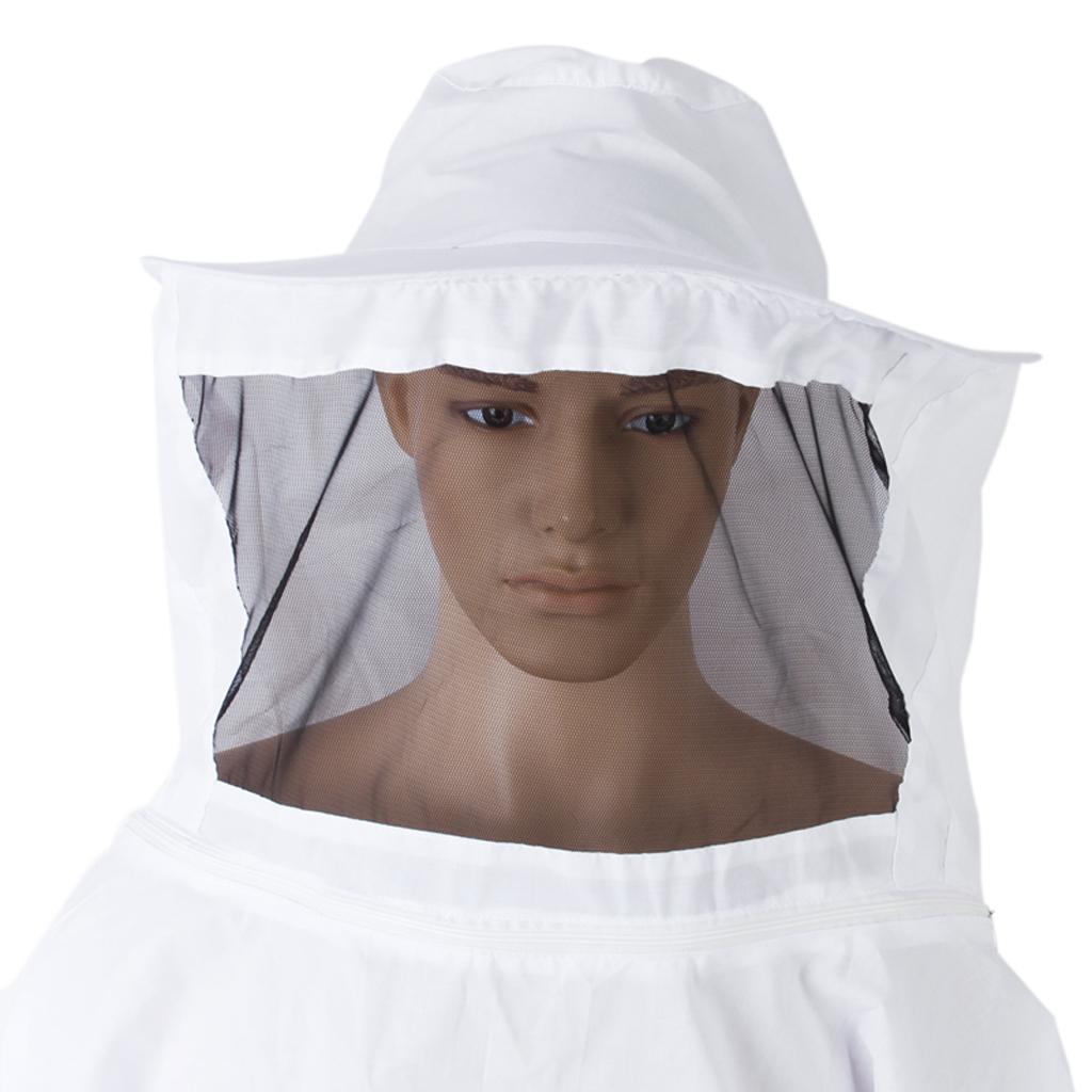 Giacca-Con-Cappello-e-Maschera-Rete-Protezione-Ape-Per-Apicoltura miniatura 7