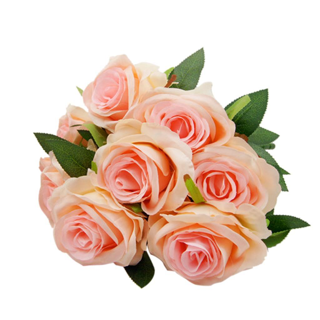 Large-9-HEADS-Artificial-Rose-Silk-Flowers-Fake-Floral-Valentines-Wedding-Decors thumbnail 20