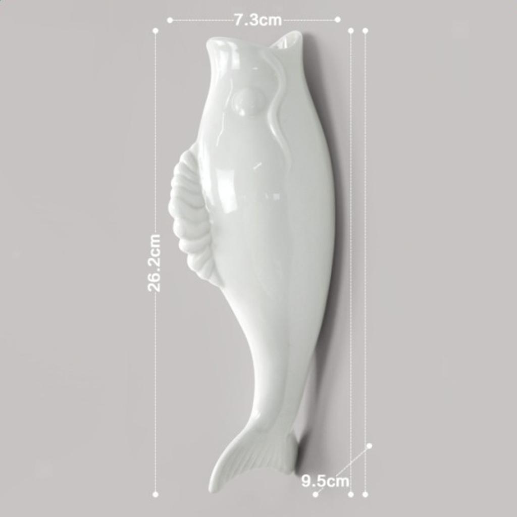 Plantes-murales-en-ceramique-de-poissons-suspendus-fleur-Vase-Mural-pour-la miniature 5