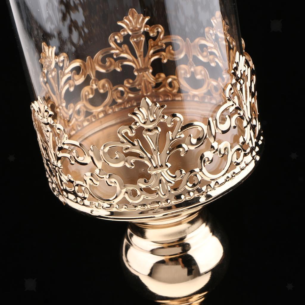 Bougeoir-En-Votive-Cristal-Porte-Bougie-Photophore-Mariage-Fete-evenement miniature 10