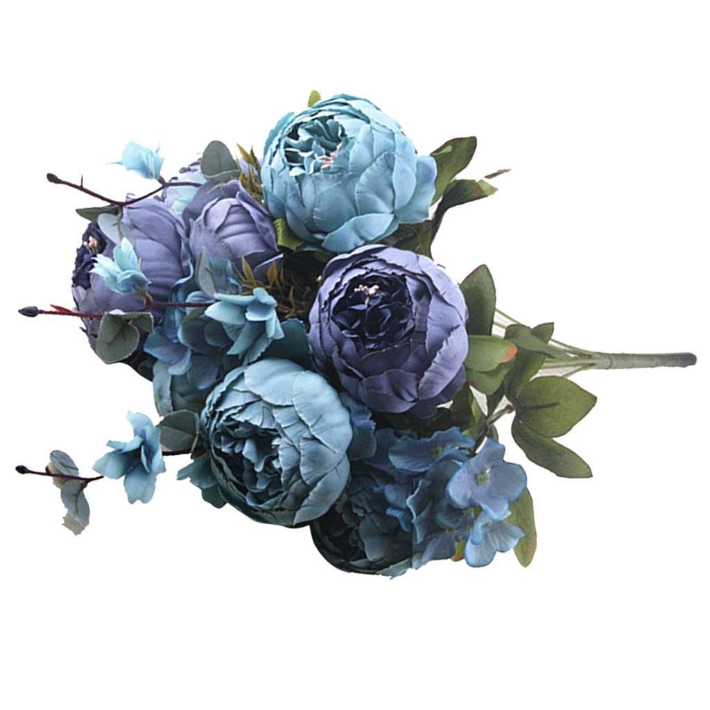 Vintage-Peony-Bridal-Silk-Flower-Wedding-Decor-Bride-Bridesmaid-Bouquet thumbnail 20