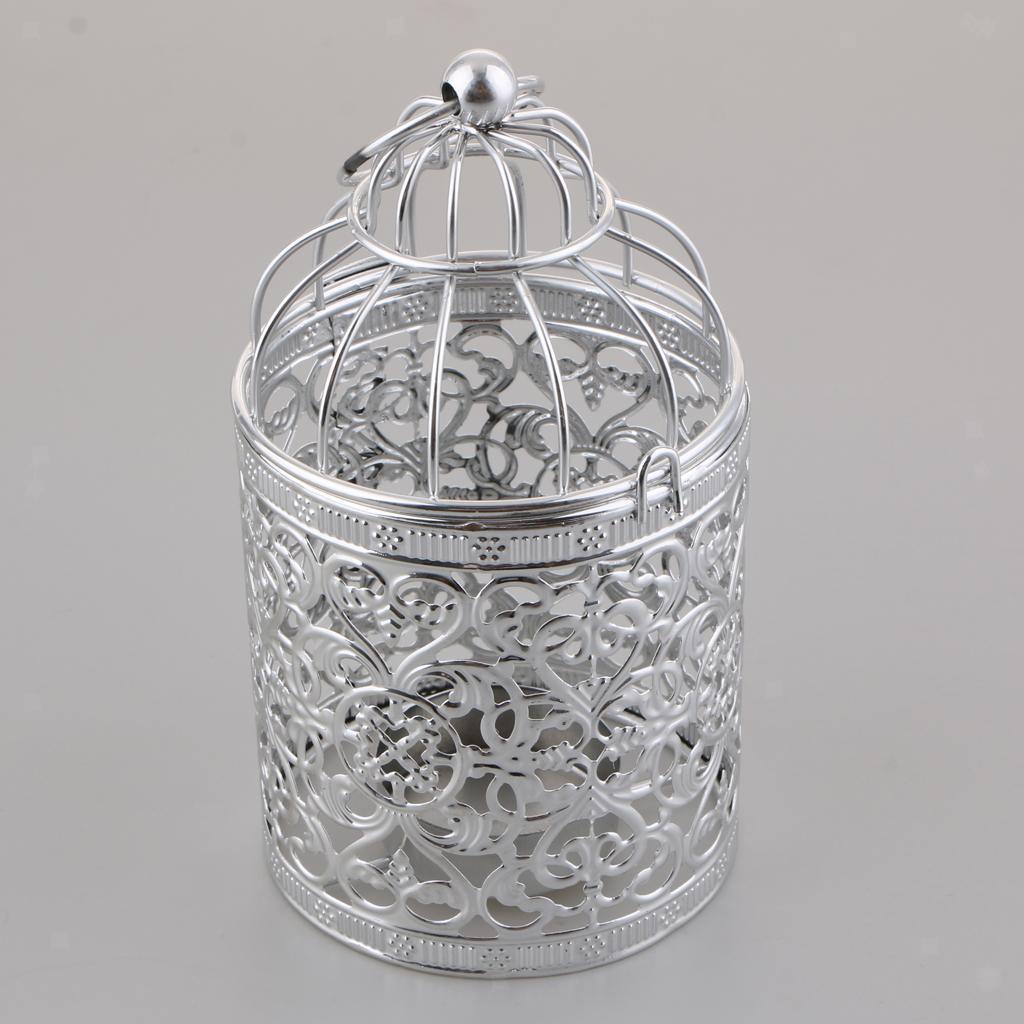 Hollowed-Flower-Metal-Tealight-Candlestick-Birdcage-Candle-Holder thumbnail 15