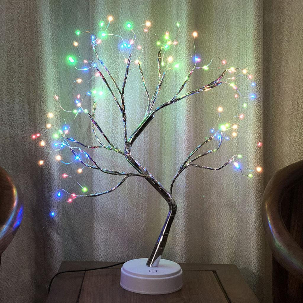 Copper Wire Tree Branch Led Night Lights Usb Amp Battery