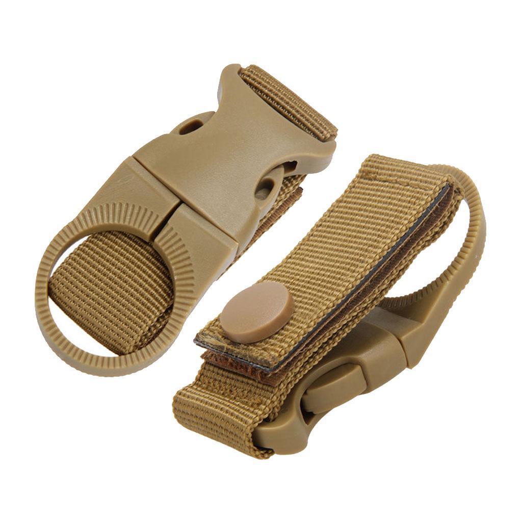 1X Tactical Molle Hanging Strap Webbing Buckle Clip Key Bottle Hook Belt ToolM!