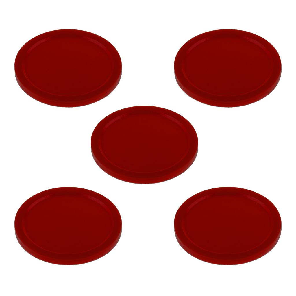 5Pcs 2 inch Mini Air Hockey Table Pucks 51mm Puck Children Table Red N RC P1