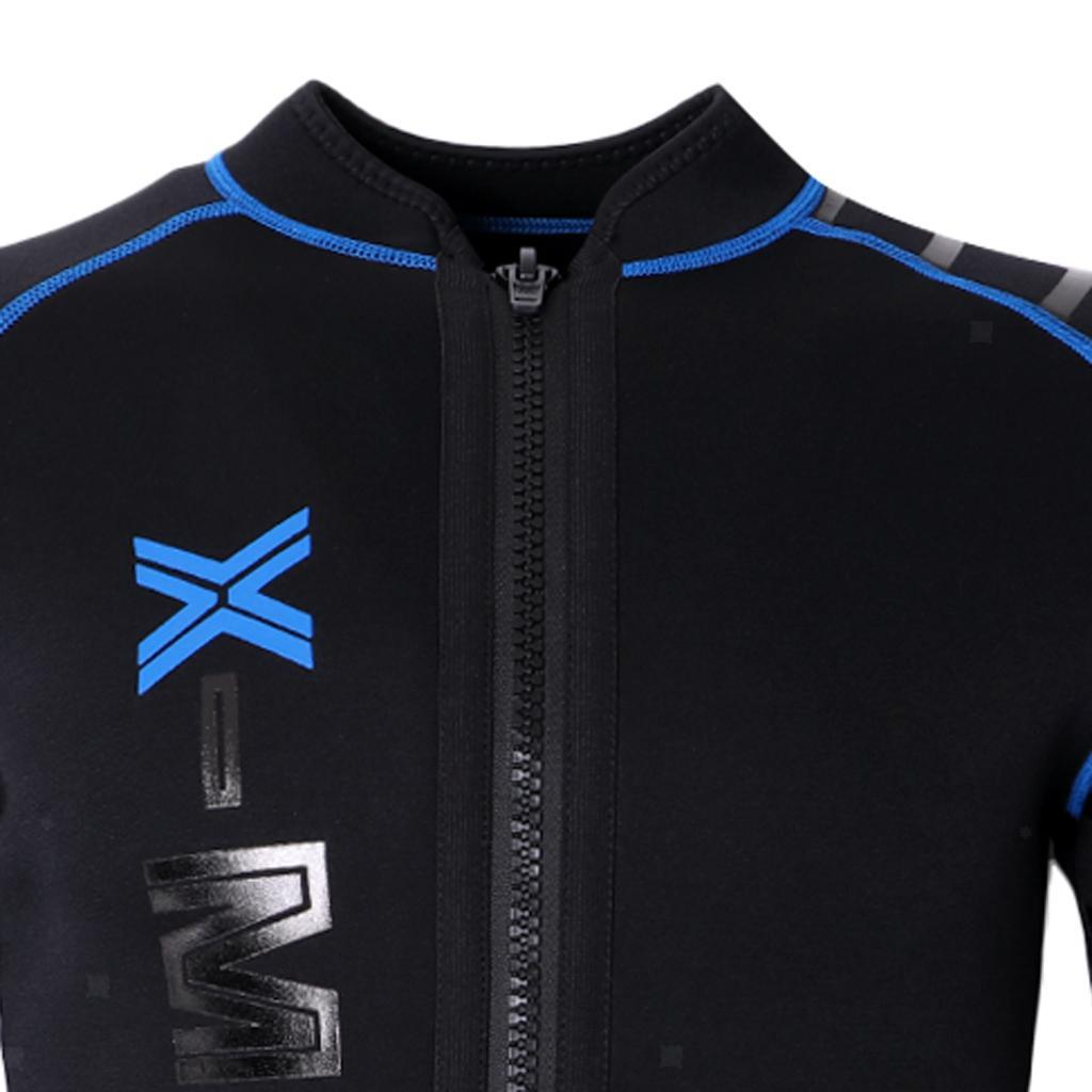 Mens-Wetsuit-Long-Sleeve-3mm-Neoprene-Wet-Suit-Surf-Scuba-Diving-Watersports thumbnail 4