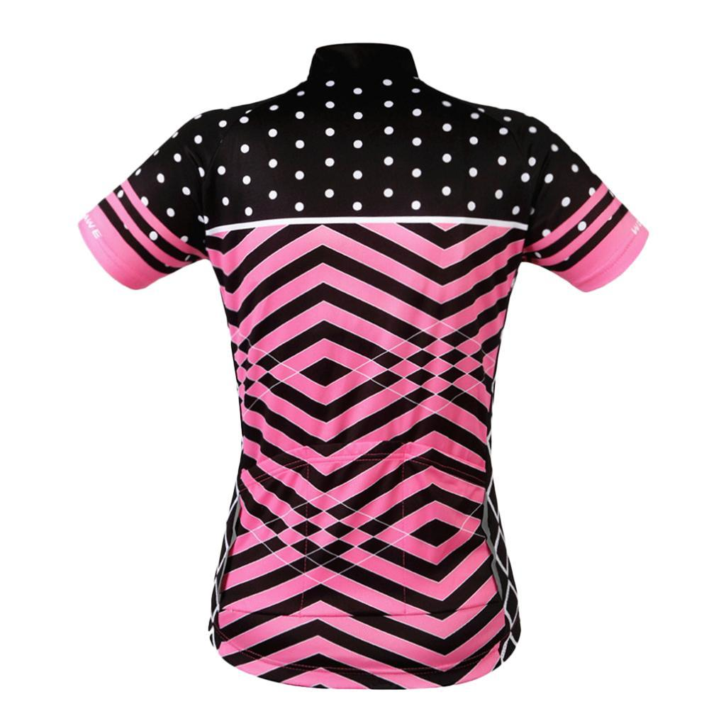 Velo-de-route-Velo-Femmes-Cyclisme-Manches-Courtes-Maillots-Haut-T-shirt miniature 16