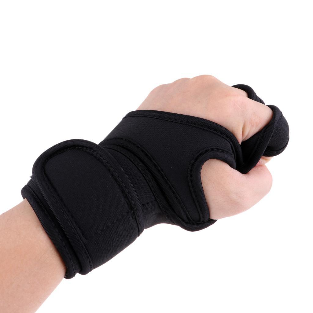 Fitness-Gloves-Weight-Lifting-Gym-Workout-Training-Wrist-Support-Wrap-Straps thumbnail 3