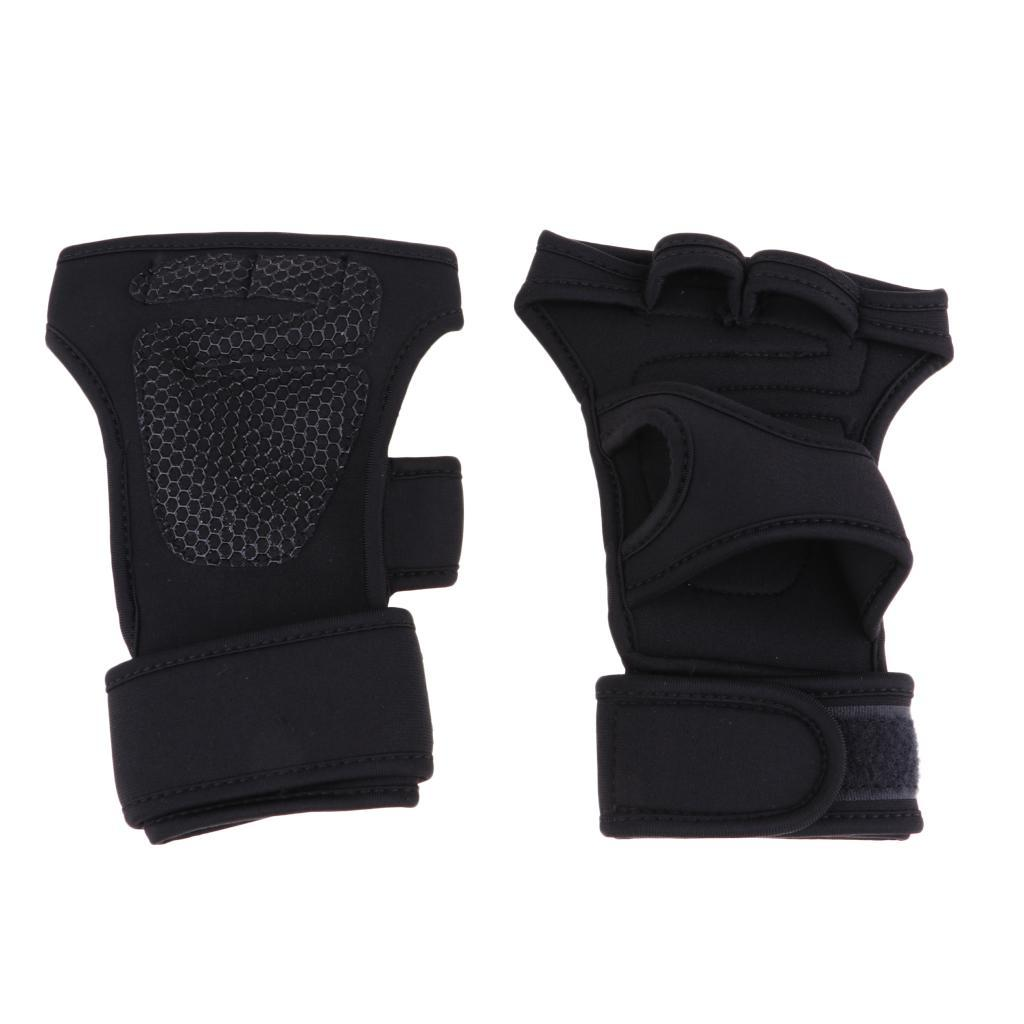 Fitness-Gloves-Weight-Lifting-Gym-Workout-Training-Wrist-Support-Wrap-Straps thumbnail 4