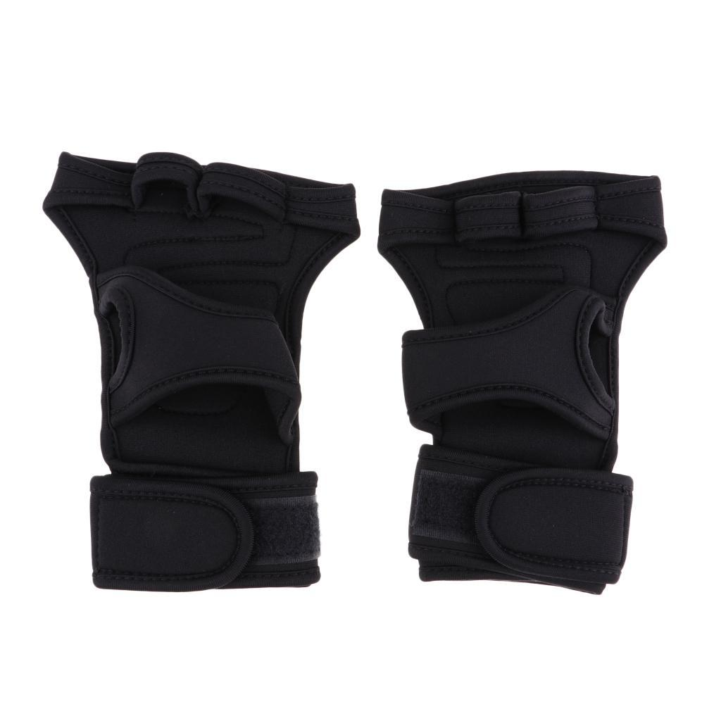 Fitness-Gloves-Weight-Lifting-Gym-Workout-Training-Wrist-Support-Wrap-Straps thumbnail 6