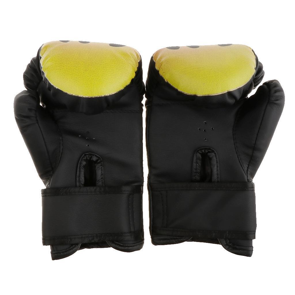 Guanti-da-MMA-Unisex-Guanto-Da-Boxe-In-Pelle-Per-Kickboxing-Muay-Thai miniatura 5
